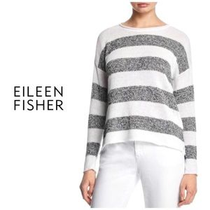 Eileen Fisher Organic Linen Wide Stripe Sweater